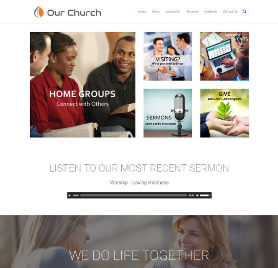 church website design 1