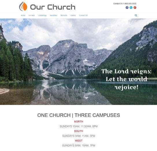 church website design 3