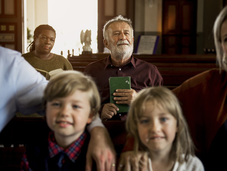 increase church attendance - picture of people in church