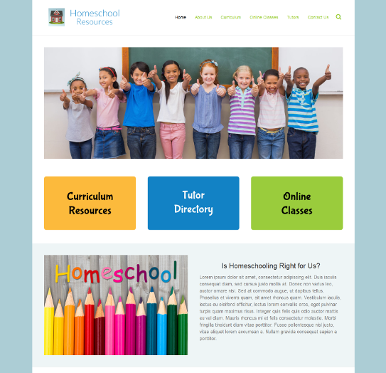 homeschool organization design example