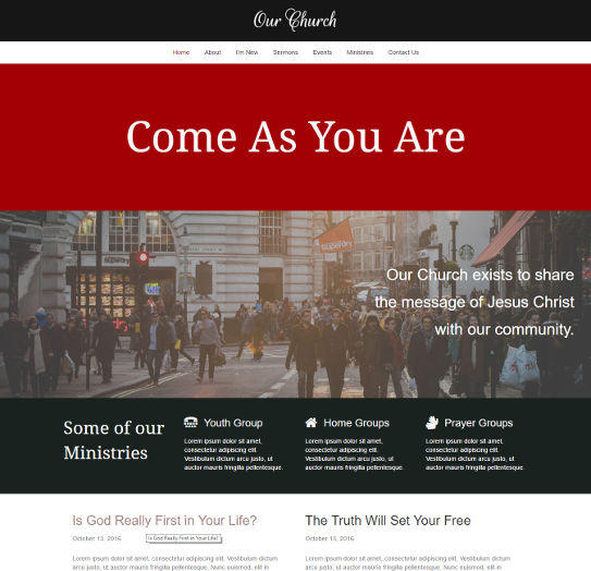 church website image - Church Website Design Ideas