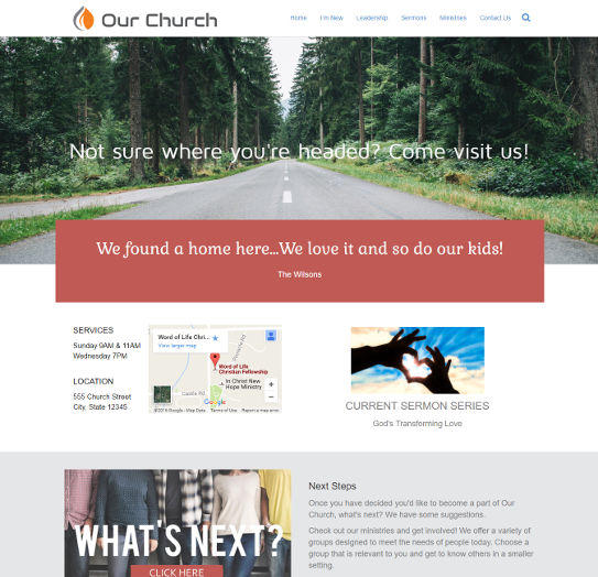 church website design 2