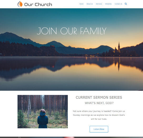 church website examples #1