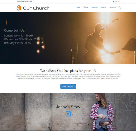 church website design 5