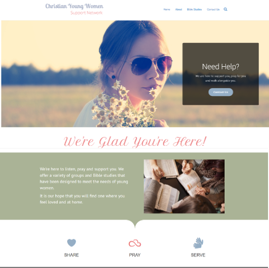 Non-profit Websites example -Christian Women Website Design