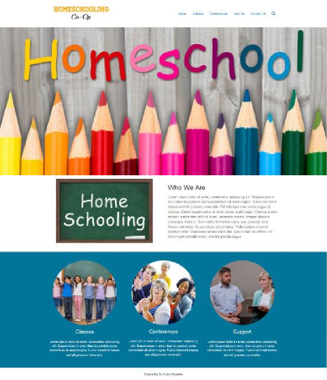 homeschool organization website design