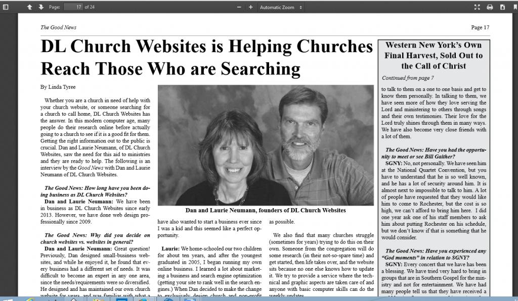 DL Church Websites interview