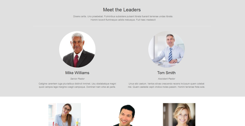 leadership page screenshot
