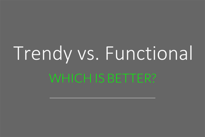 trendy vs. functional website