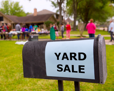 Community Outreach - yard sale